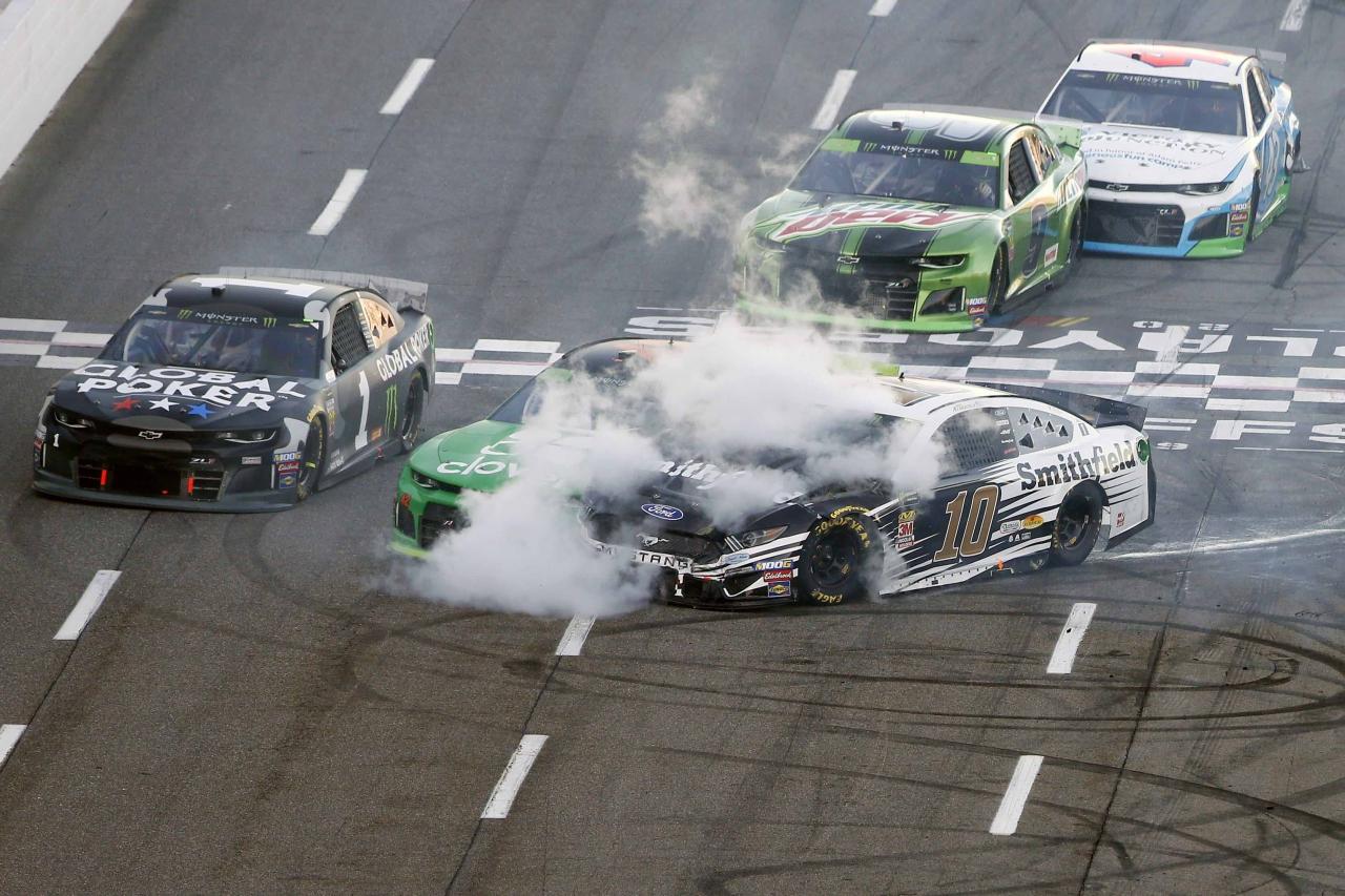 Aric Almirola crashes at Martinsville Speedway - NASCAR