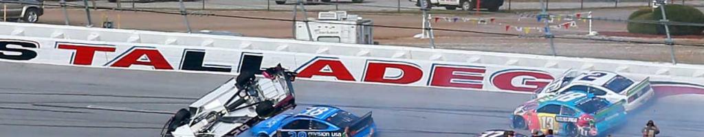 Big crash at Talladega Superspeedway in NASCAR race; Gaughan barrel rolls at 200mph (Video)