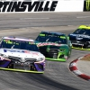 Denny Hamlin and Chase Elliott at Martinsville Speedway - NASCAR