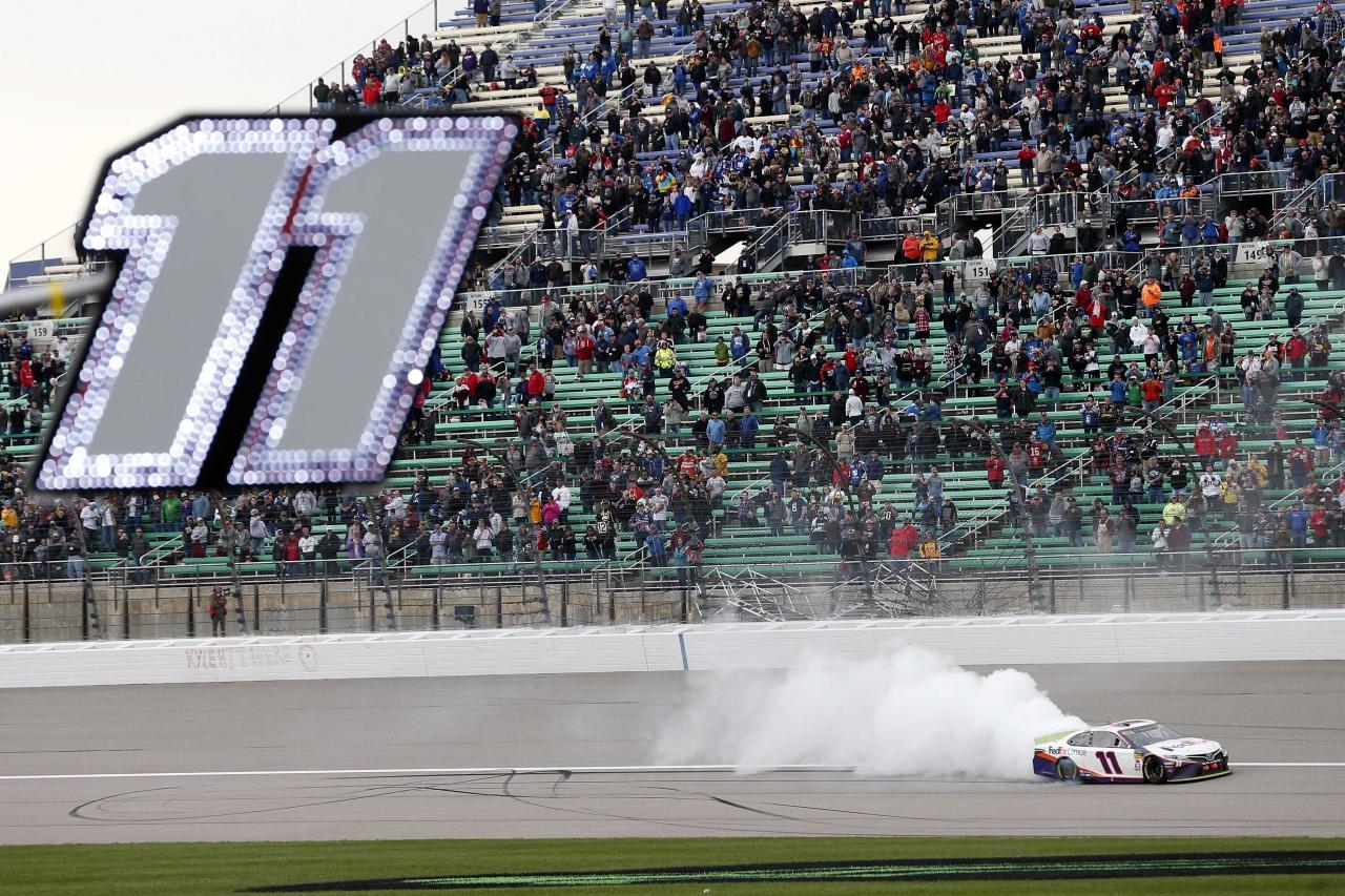 Denny Hamlin wins at Kansas Speedway - NASCAR