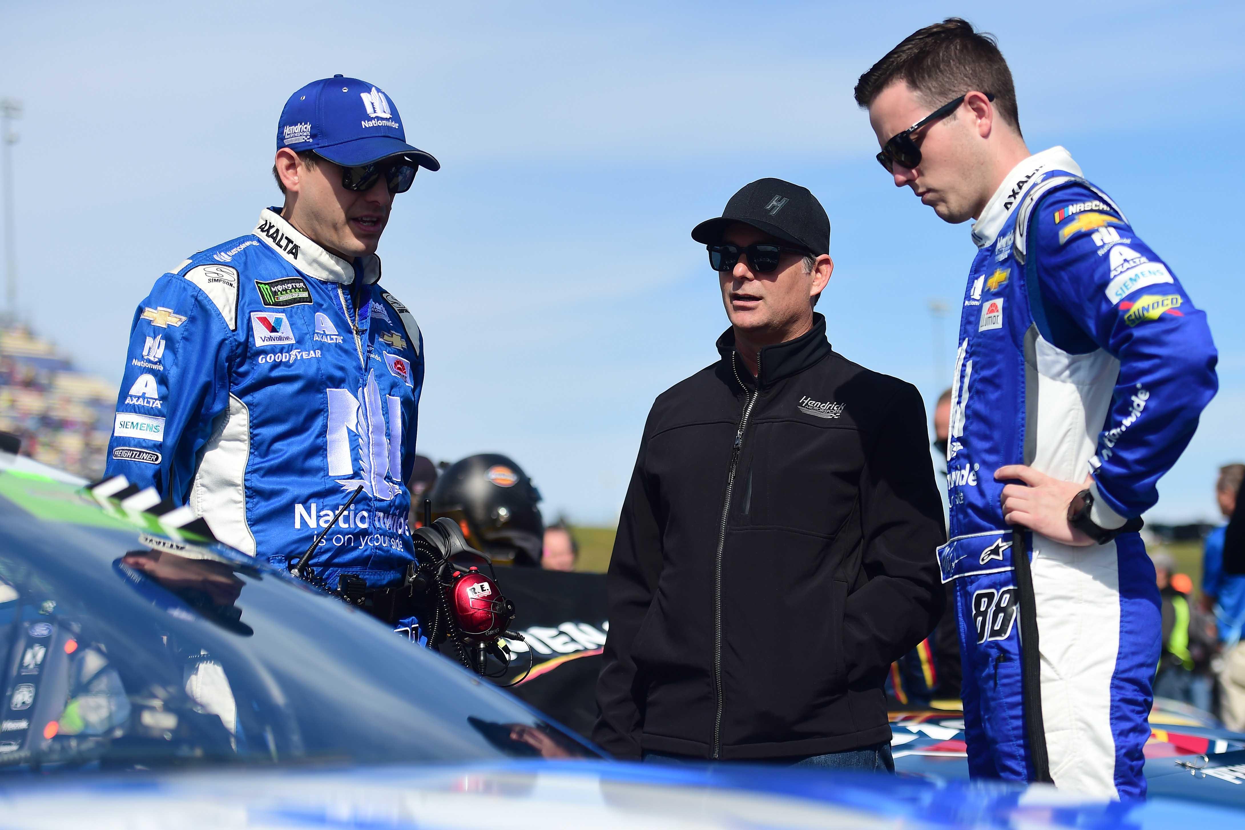 Greg Ives, Alex Bowman and Jeff Gordon - NASCAR