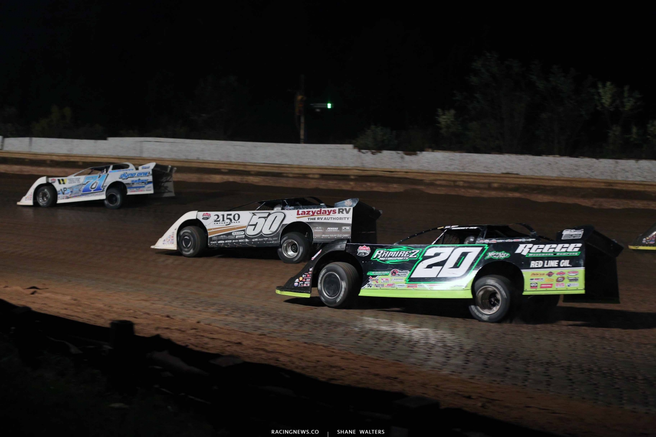 Hudson O'Neal, Shanon Buckingham and Jimmy Owens at Pittsburghs Pennsylvania Motor Speedway - Lucas Oil Series 8513