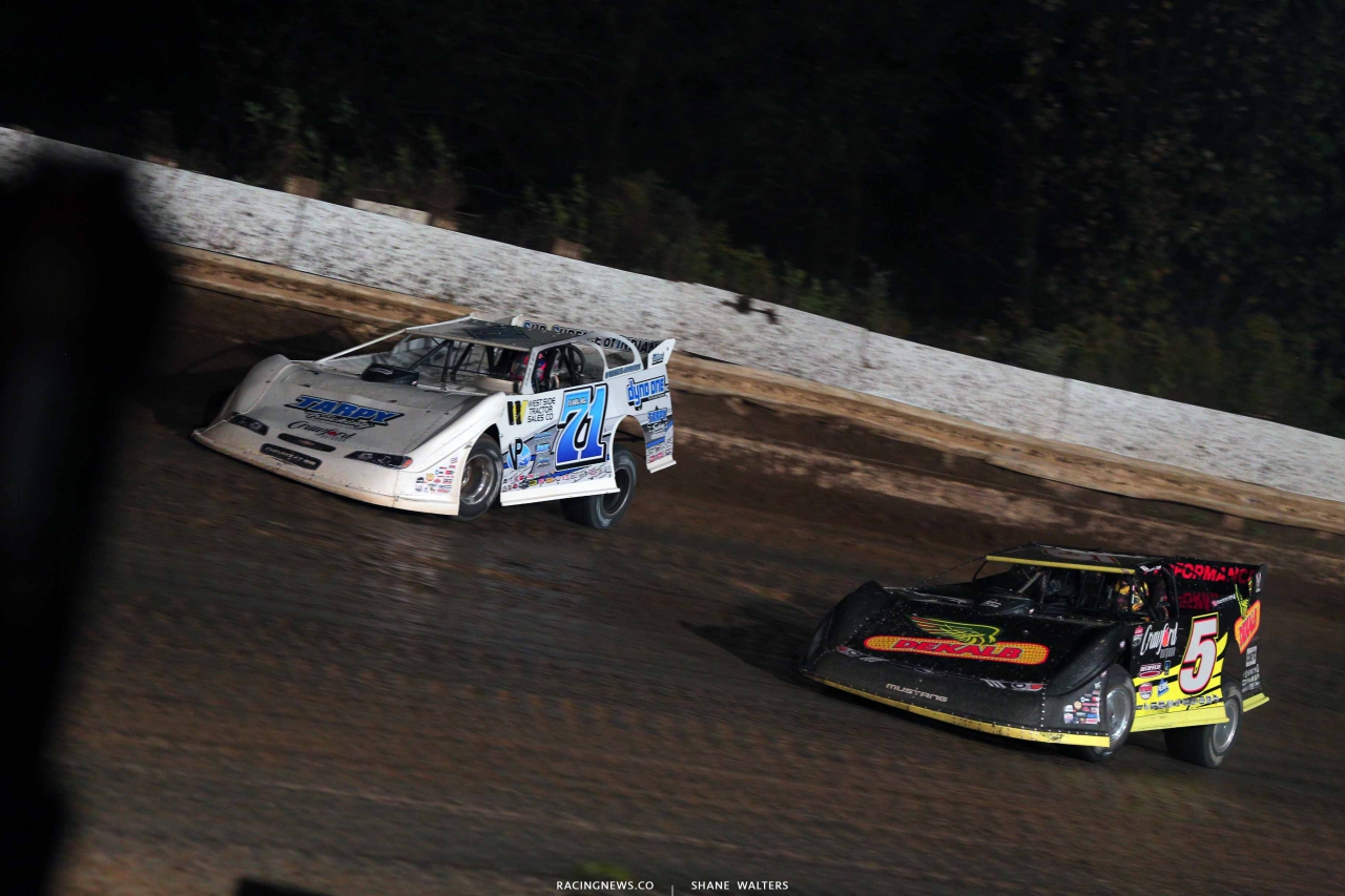 Hudson O'Neal and Don O'Neal at PPMS - Lucas Oil Late Models 8550