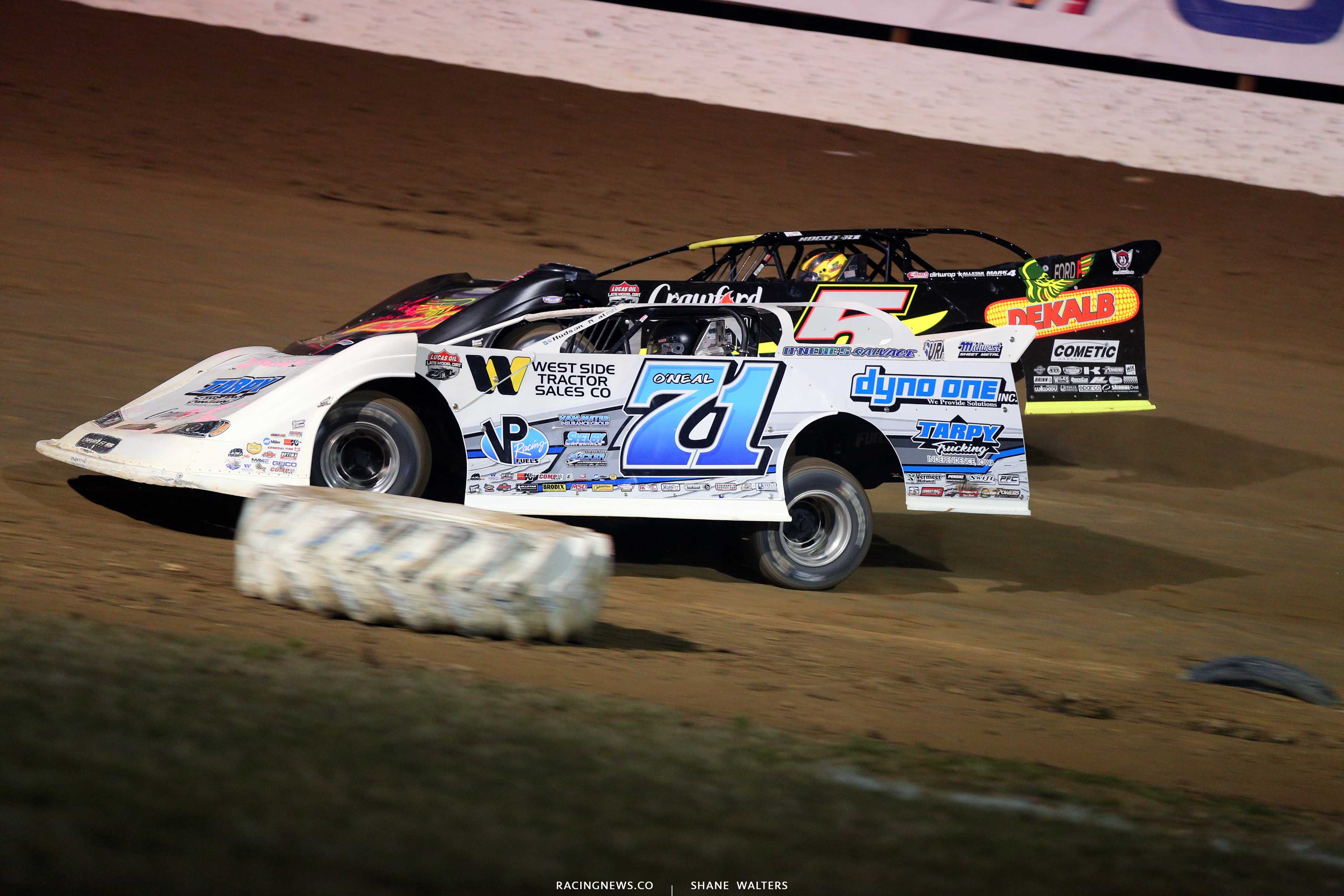 Hudson O'Neal and Don O'Neal at Portsmouth Raceway Park - Dirt Track World Championship 9021