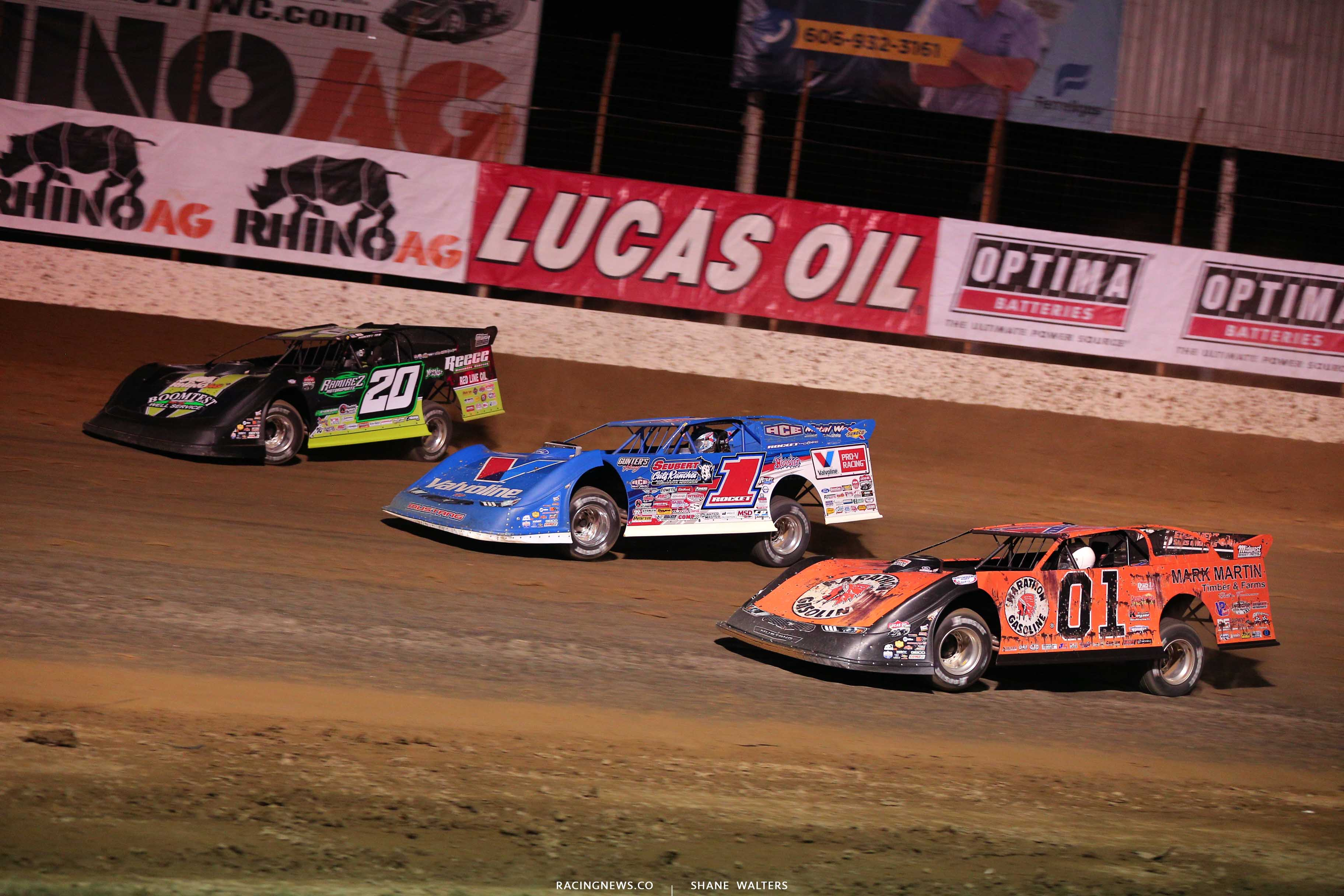 Jimmy Owens, Brandon Sheppard and Mike Marlar in the Dirt Track World Championship - LOLMDS 9306