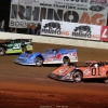 Jimmy Owens, Brandon Sheppard and Mike Marlar in the Dirt Track World Championship at portsmouth Raceway Park - Lucas Oil Late Models 9307