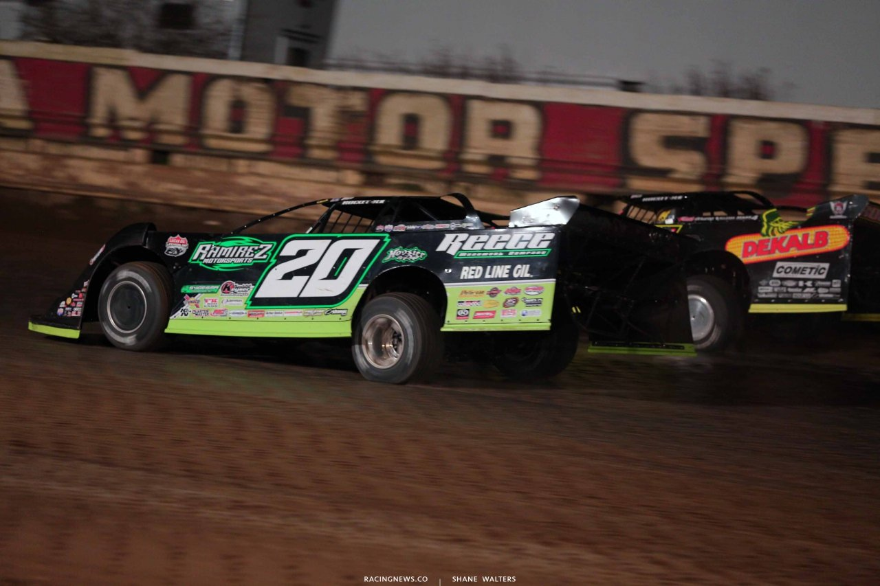 Jimmy Owens and Don O'Neal at PPMS - Lucas Oil Dirt Series 8624