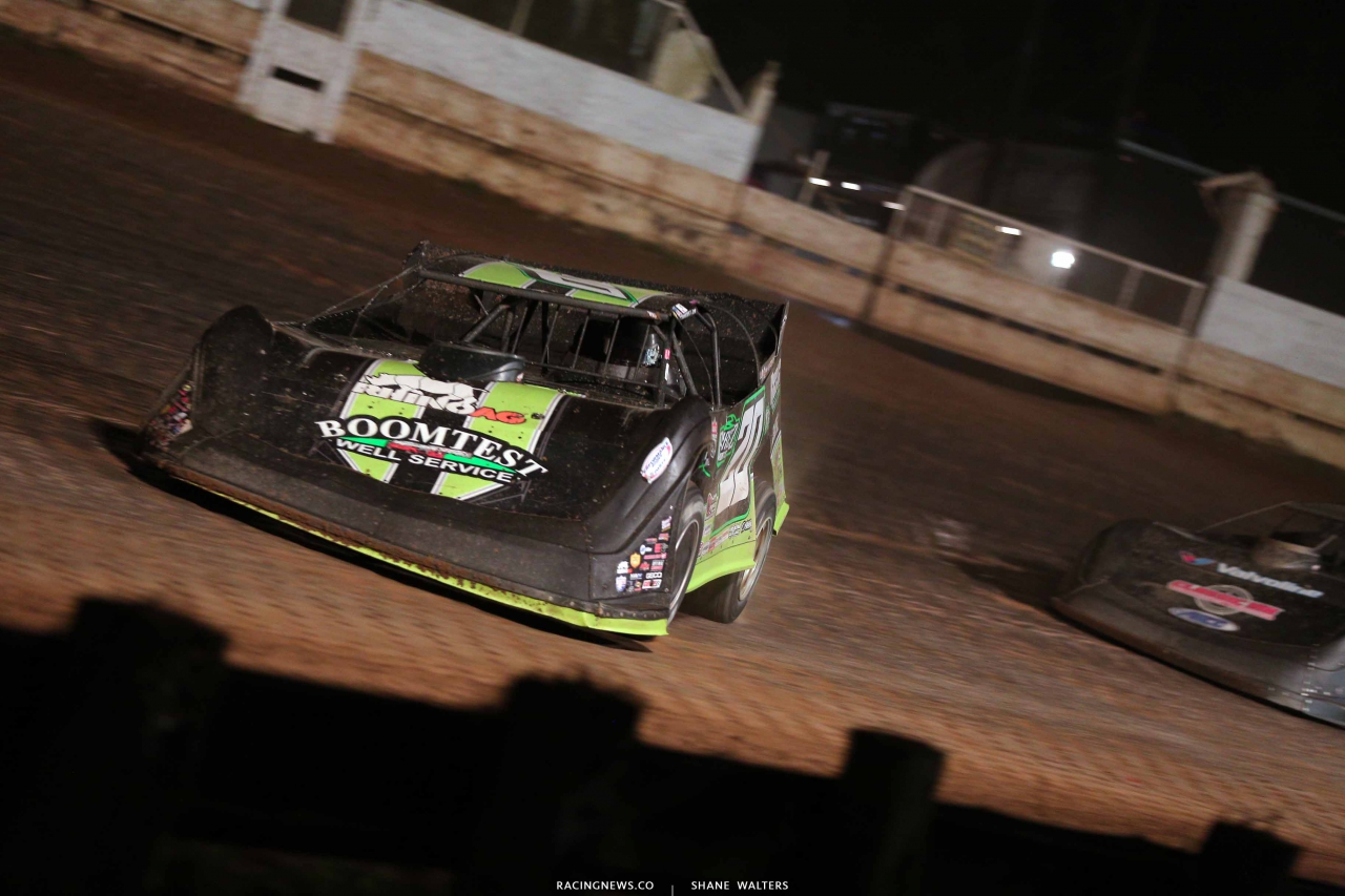 Jimmy Owens in the Pittsburgher 100 - Lucas Oil Late Model Dirt Series 8651