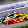 Joey Logano and Chase Elliott at Kansas Speedway - NASCAR Cup Series