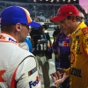 Joey Logano and Denny Hamlin at Martinsville Speedway - NASCAR fight