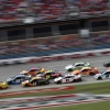 Joey Logano leads Alex Bowman and Clint Bowyer at Talladega Superspeedway - NASCAR Cup Series