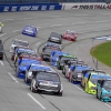 Johnny Sauter leads at Talladega Superspeedway - NASCAR Truck Series