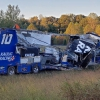 Kaulig Racing - NASCAR hauler crash