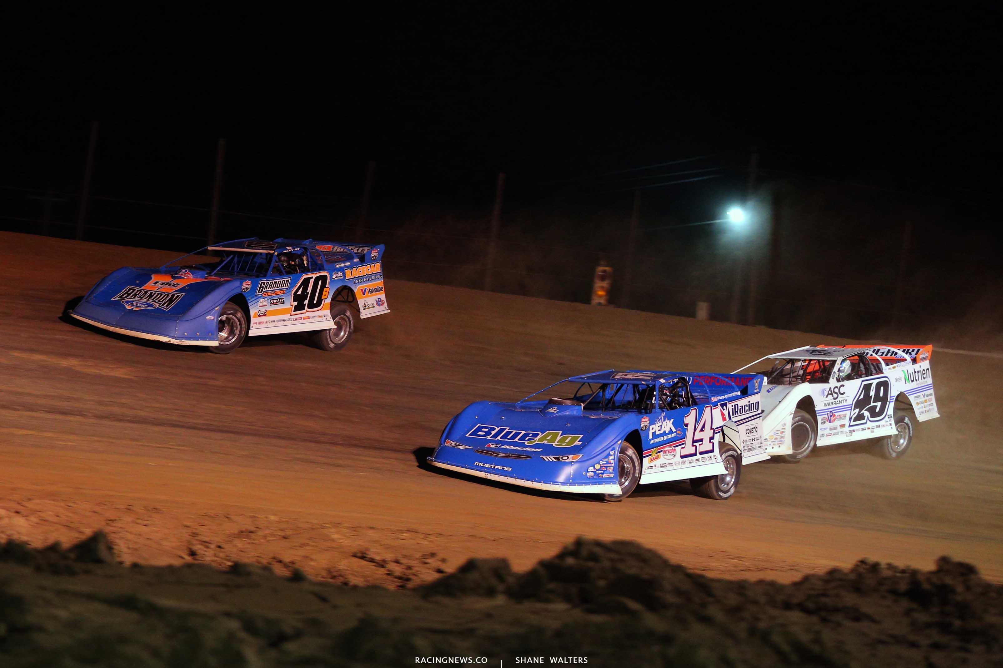 Kyle Bronson, Josh Richards and Jonathan Davenport at Raceway 7 - Lucas Oil Late Models 8270