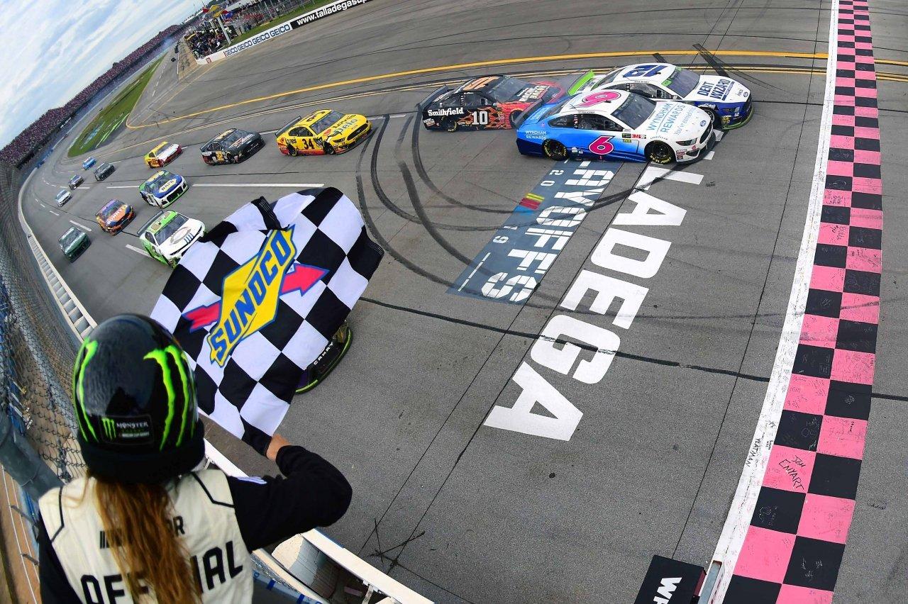 NASCAR finish at Talladega Superspeedway - Ryan Blaney and Ryan Newman