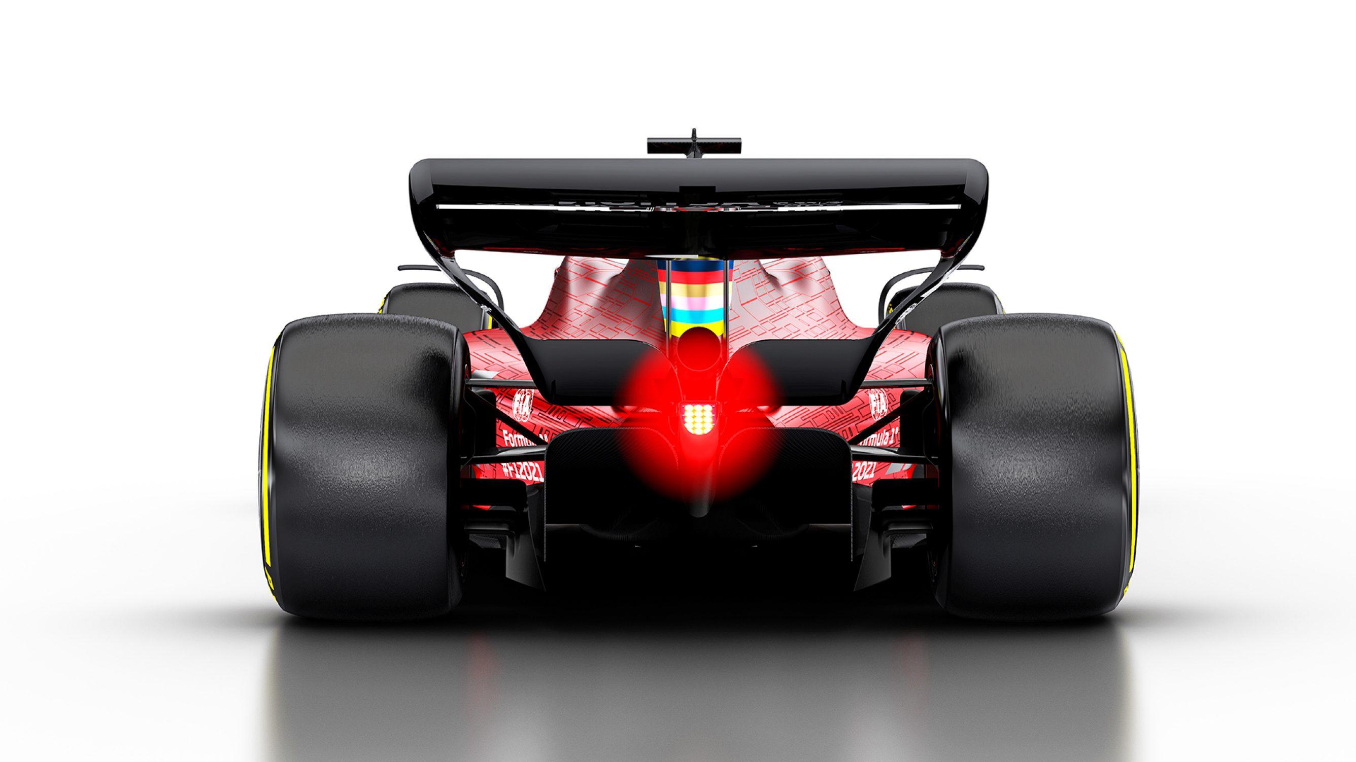 Rear of 2021 Formula One car