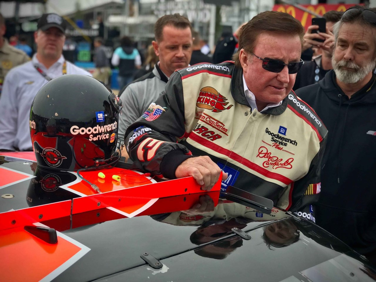 Richard Childress drives Dale Earnhardt 3 car at Talladega Superspeedway - NASCAR