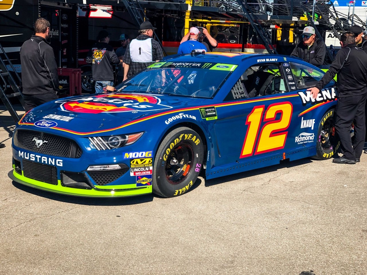 Ryan Blaney - Dickes Paint Scheme at Kansas Speedway - NASCAR Cup Series