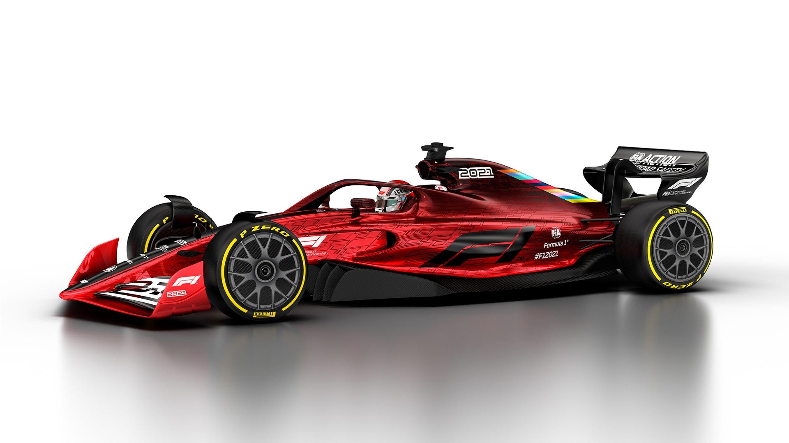 Side of 2021 F1 car