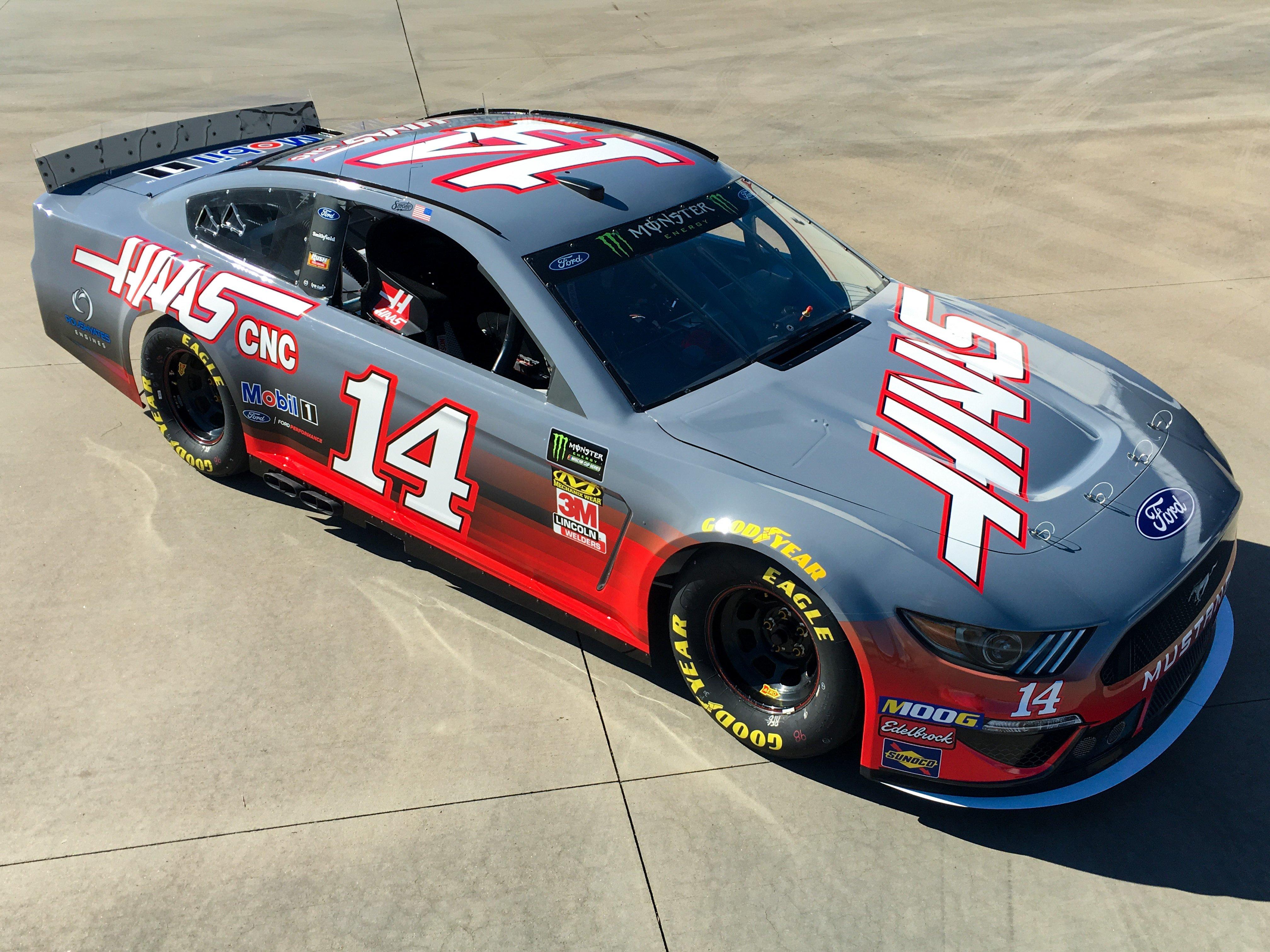 Tony Stewart 14 NASCAR race car for Circuit of the Americas