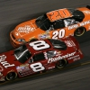 2007 Dale Earnhardt Jr and Tony Stewart at Daytona International Speedway - NASCAR