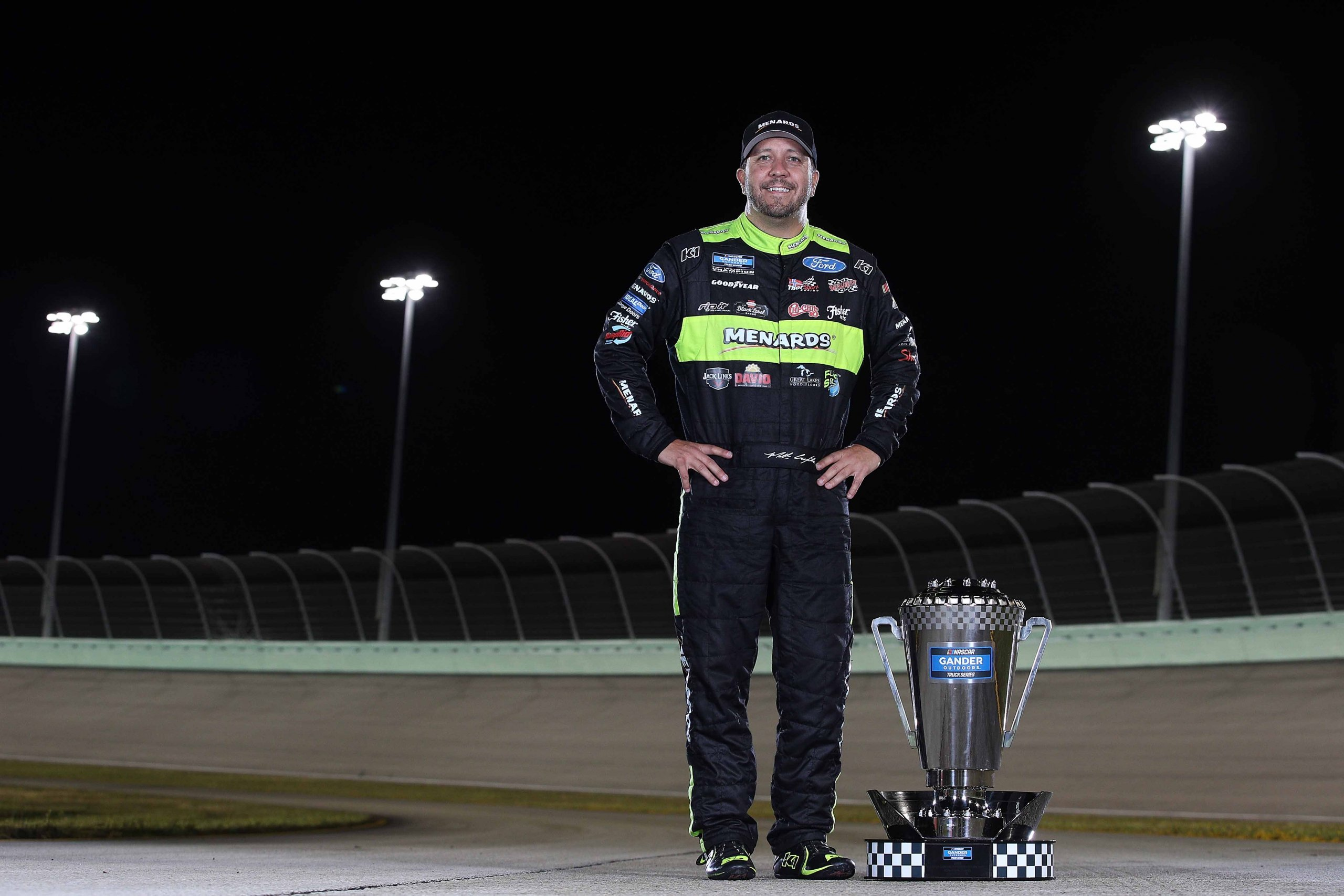 2019 NASCAR Gander Outdoors Truck Series champion Matt Crafton