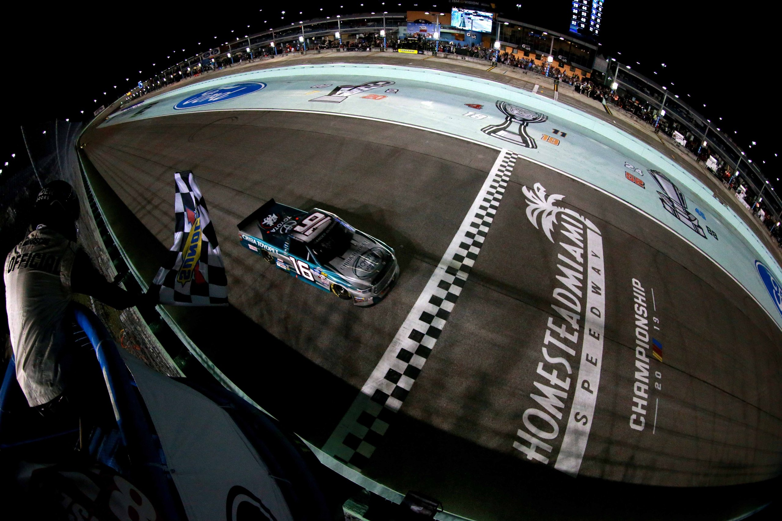 Austin Hill wins at Homestead-Miami Speedway - NASCAR Truck Series