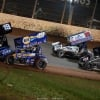 Brad Sweet and Donny Schatz on The Dirt Track at Charlotte - World of Outlaws Sprint Car Series 1020