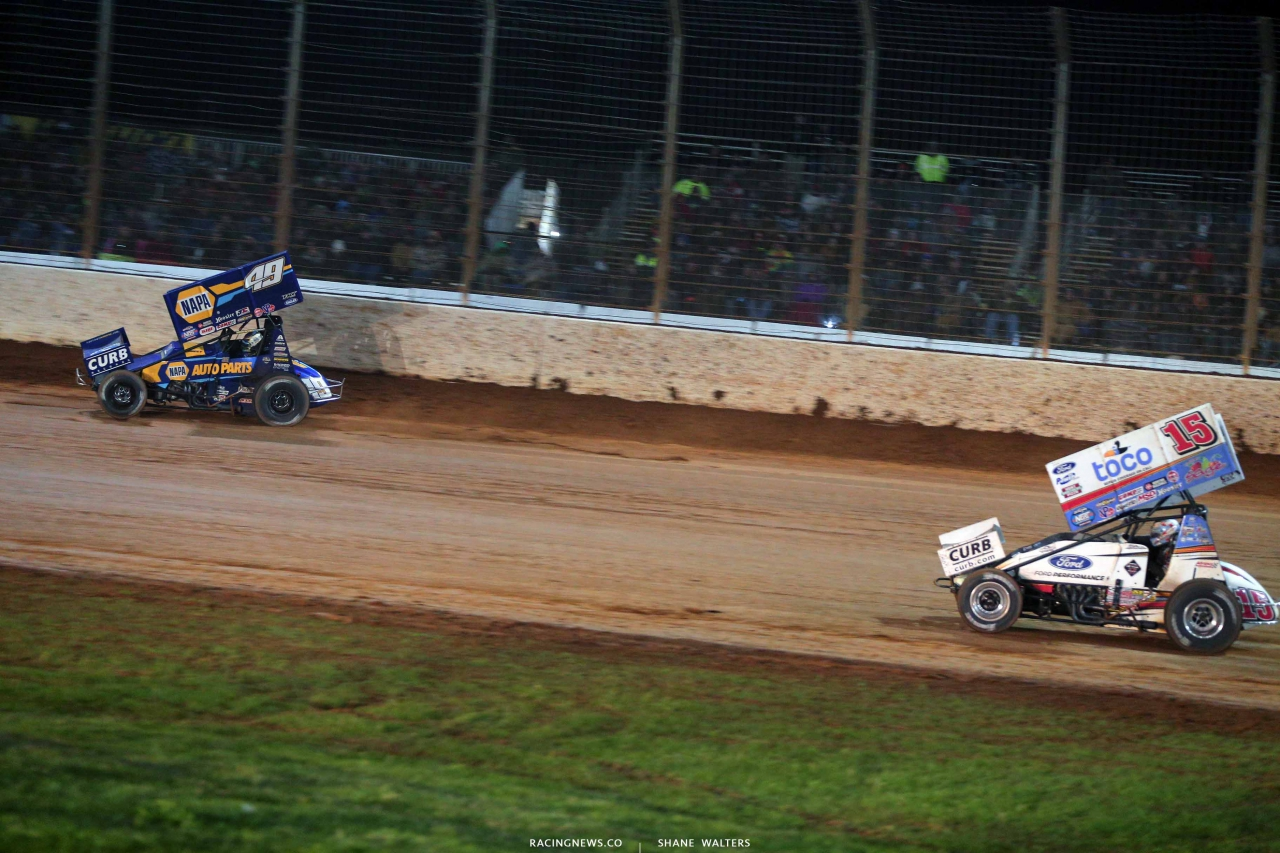 Brad Sweet and Donny Schatz on The Dirt Track at Charlotte - World of Outlaws Sprint Car Series 1134