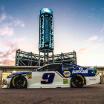 Chase Elliott in the NASCAR garage area at Phoenix Raceway - MENCS