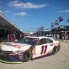 Denny Hamlin in the NASCAR garage area at Homestead-Miami Speedway