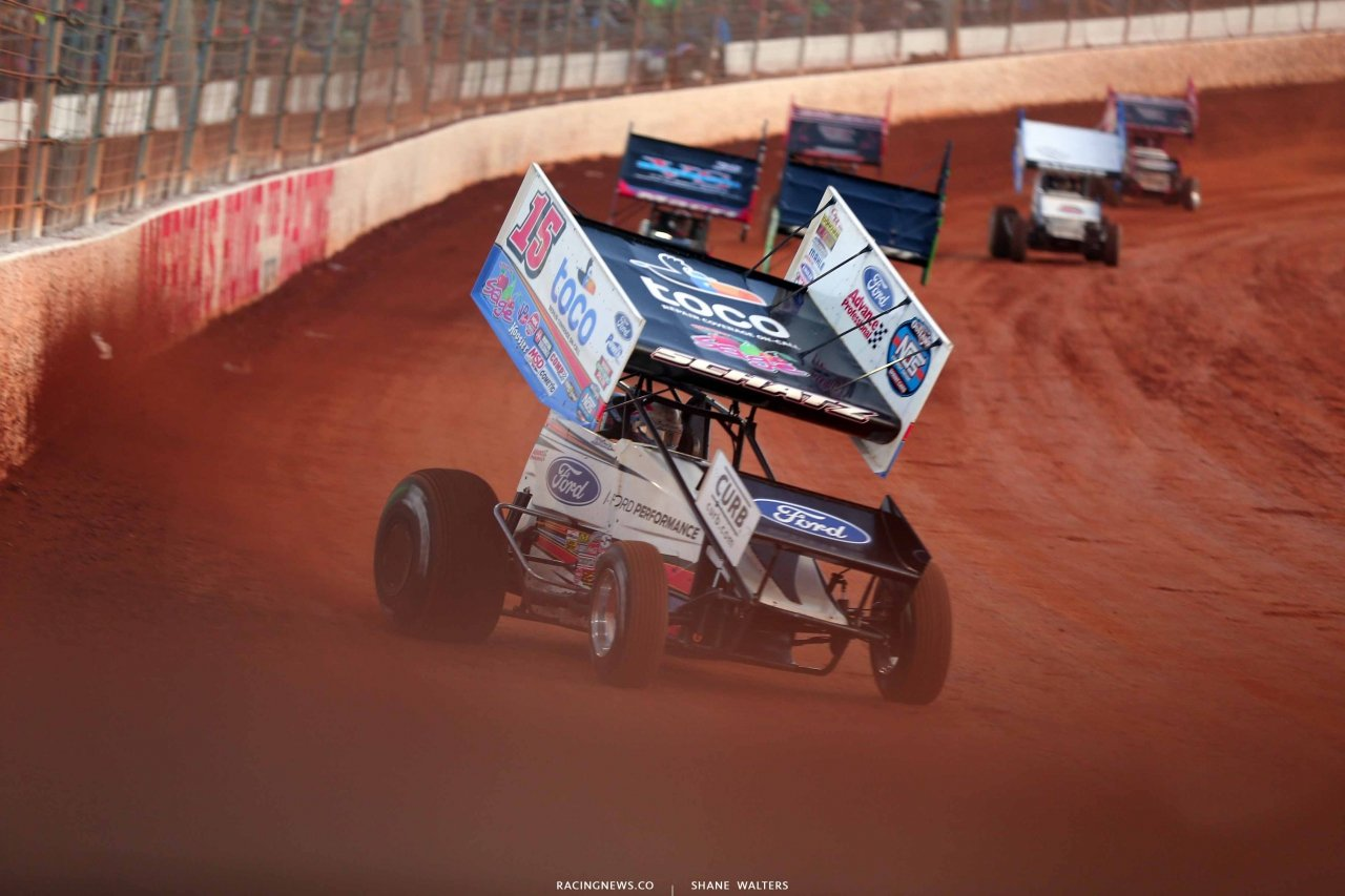 Donny Schatz on The Dirt Track at Charlotte - World of Outlaws Sprint Cars 0858