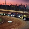 Jimmy Owens, Mike Marlar and Scott Bloomquist on The Dirt Track at Charlotte - World of Outlaws Late Model Series 0978