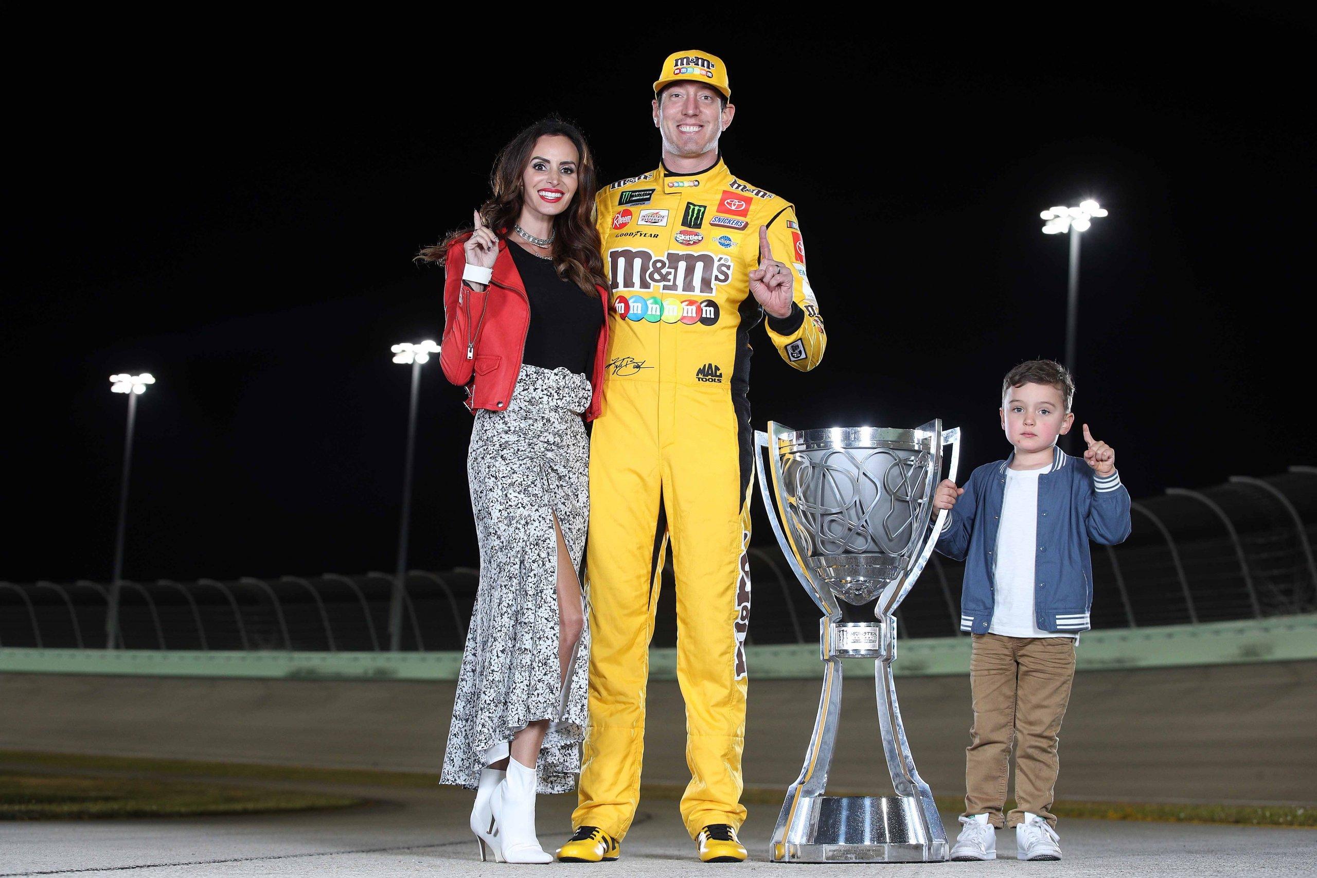 Kyle Busch, wife Samantha Busch, son Brexton Busch - 2019 NASCAR Cup Series champion