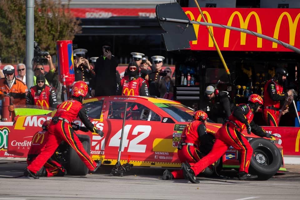 Kyle Larson - NASCAR pit stop