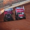 Schuchart and Mansen on The Dirt Track at Charlotte - World of Outlaws Sprint Car Series 0802