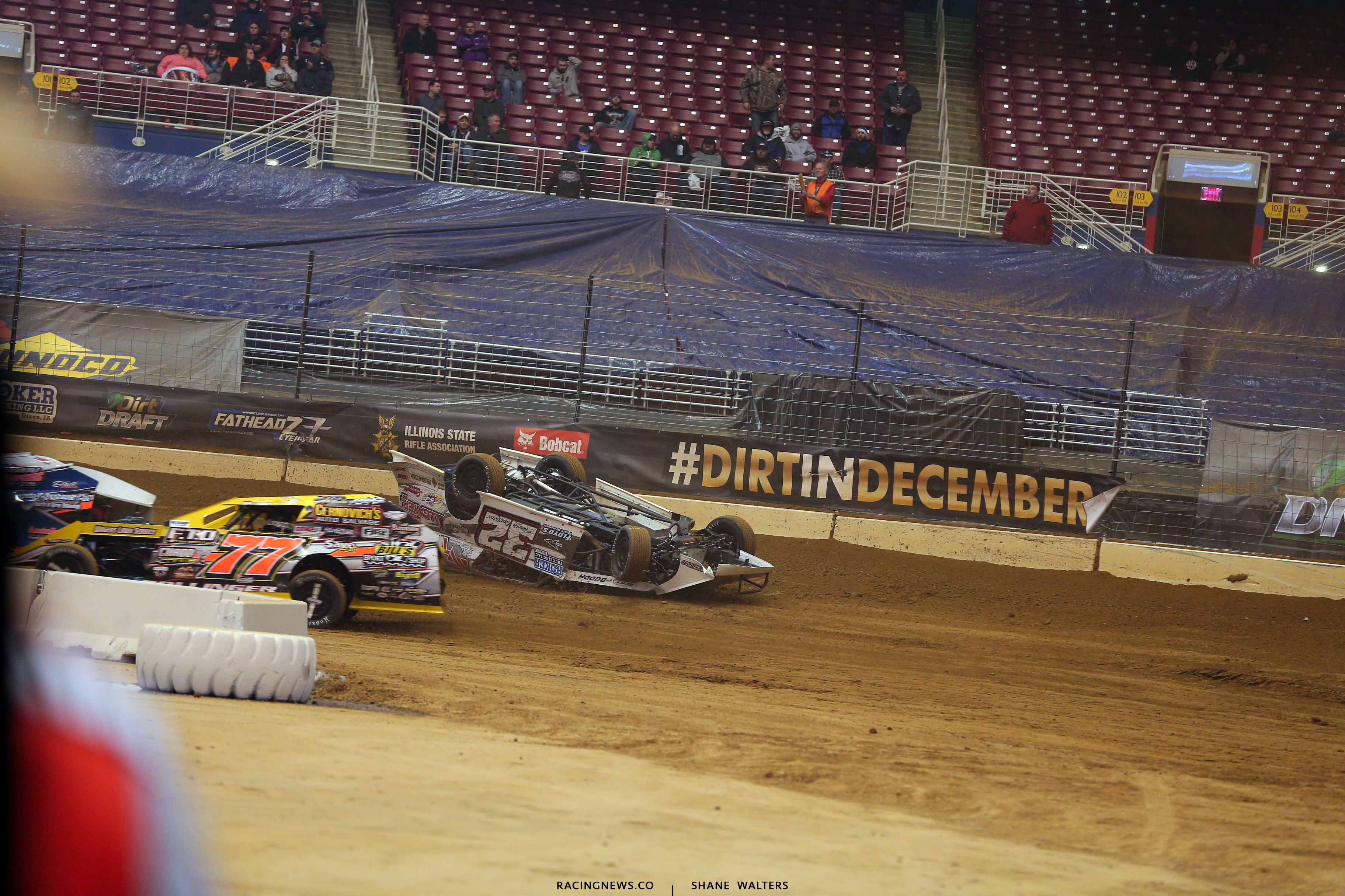 Bobby Pierce flips in the Gateway Dirt Nationals - Dirt modified 2125