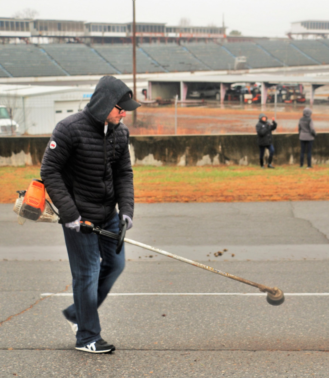 Dale Earnhardt Jr cleans North Wilkesboro