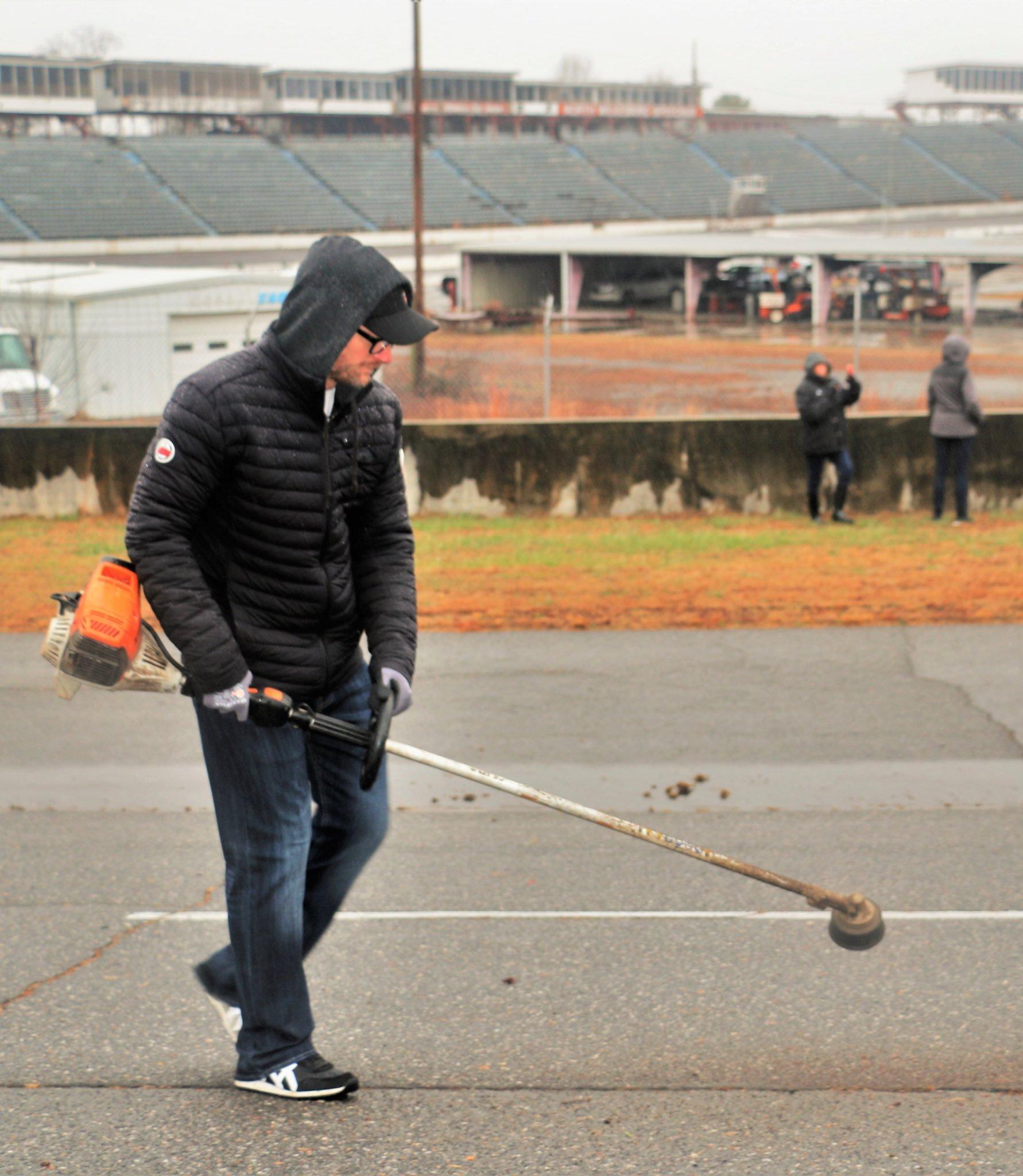 Dale Earnhardt Jr cleans North Wilkesboro