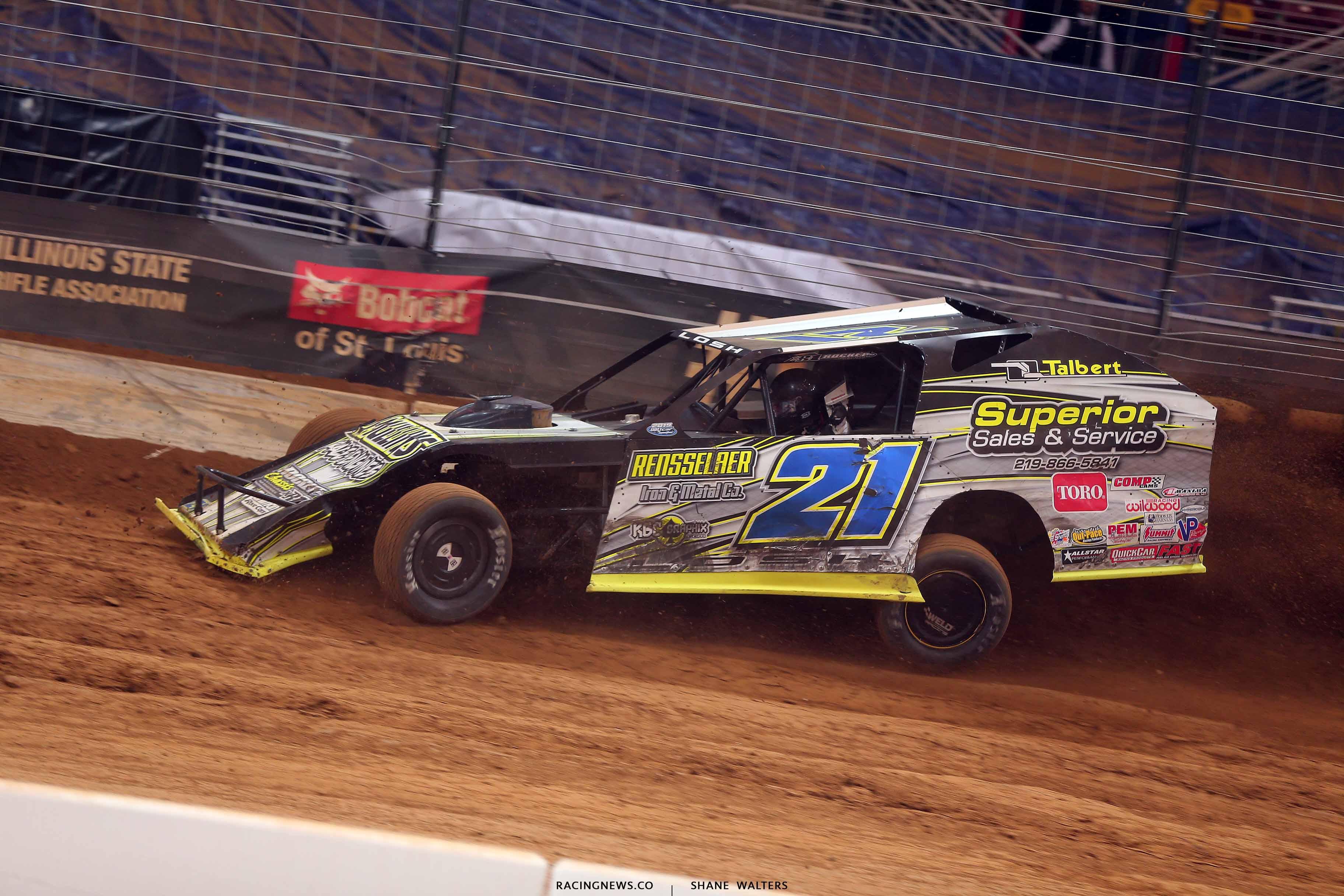 Derek Losh in the Gateway Dirt Nationals - Dirt Modified 2916