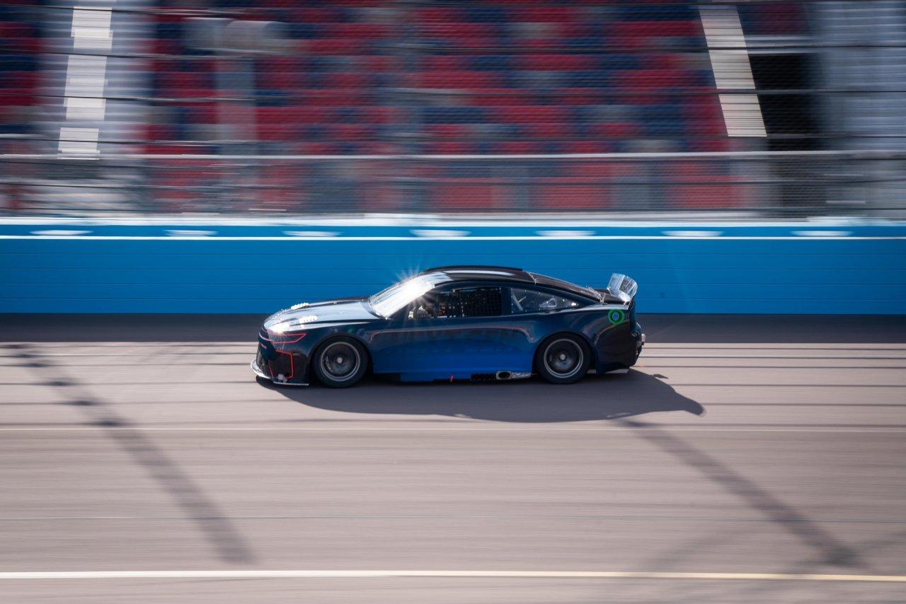 Joey Logano tests NASCAR Next Gen Racecar