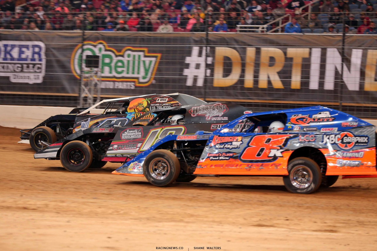 Kyle Bronson, Michael Long and Kissinger in the Gateway Dirt Nationals - Dirt Modifieds 2836