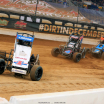 Kyle Larson and Justin Grant in the Gateway Dirt Nationals - Dirt Midgets 2773