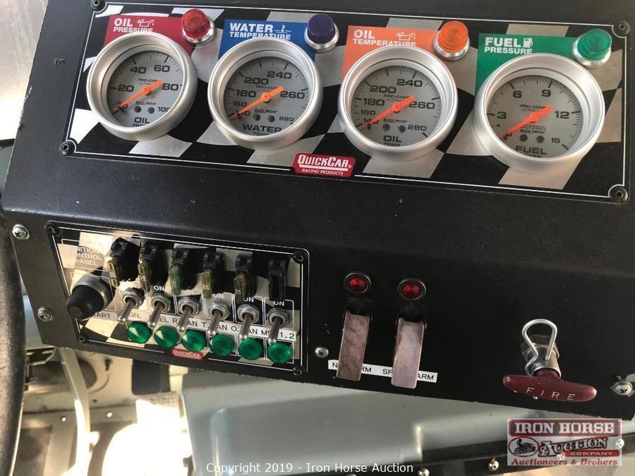 NASCAR gauges in UPS truck