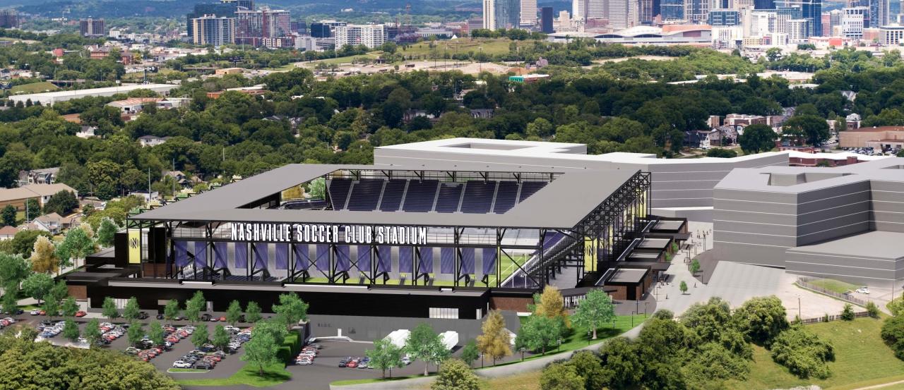 Nashville MLS Soccer Stadium rendering