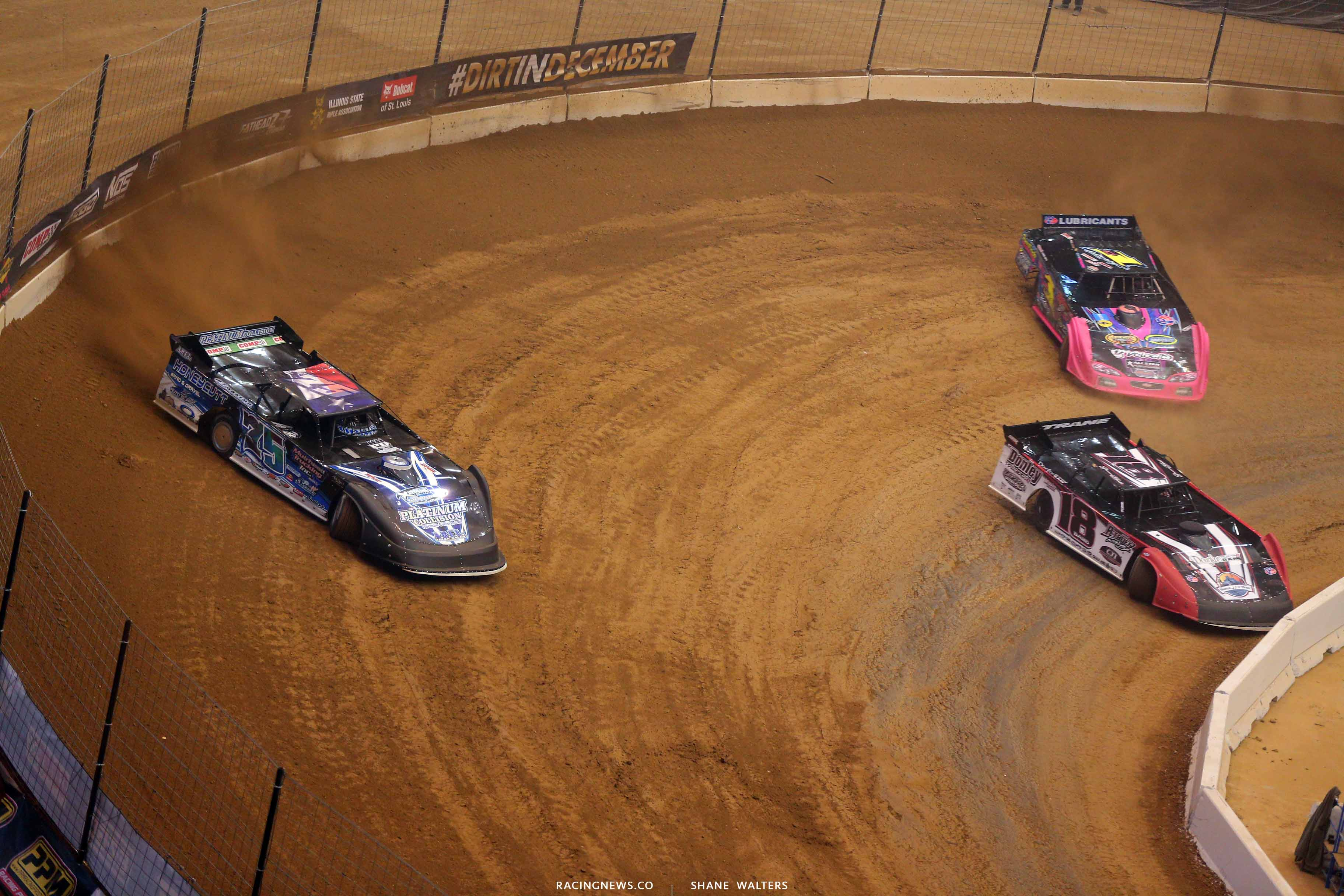 Patrik Daniel, Shannon Babb and Rusty Schlenk in the Gateway Dirt Nationals - Dirt Late Models 2439