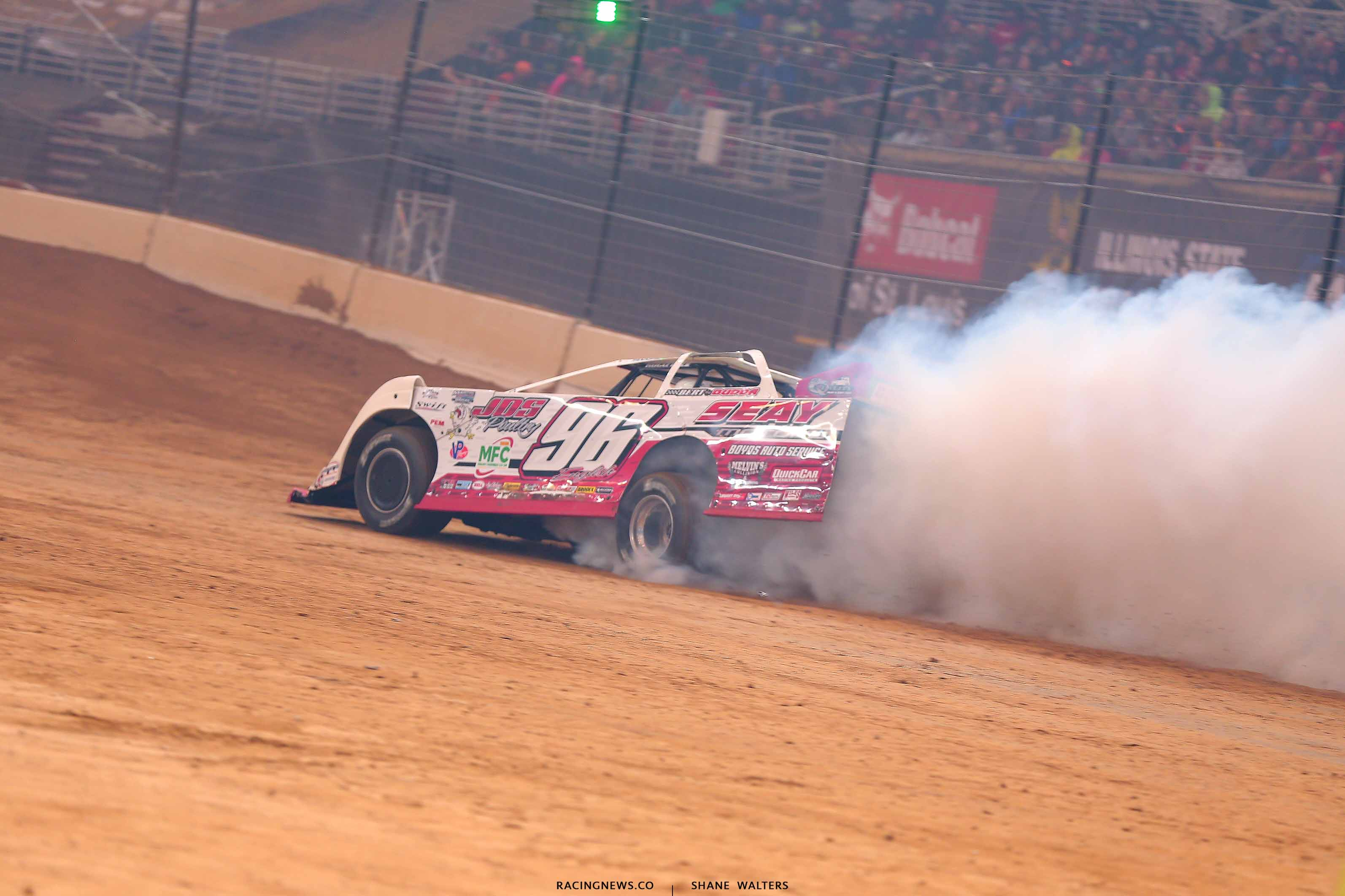 Tanner English blows and engine in the Gateway Dirt Nationals 2642