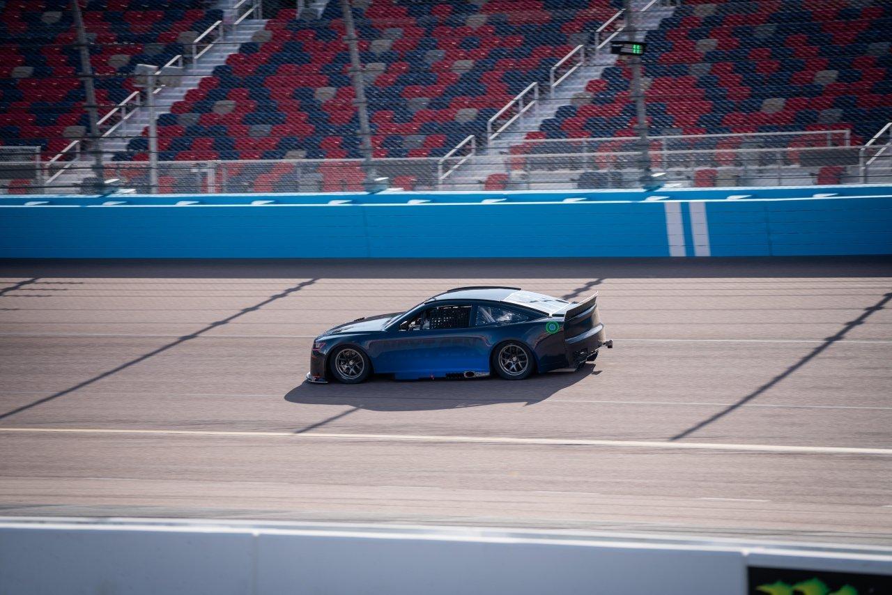 Test of new NASCAR race car