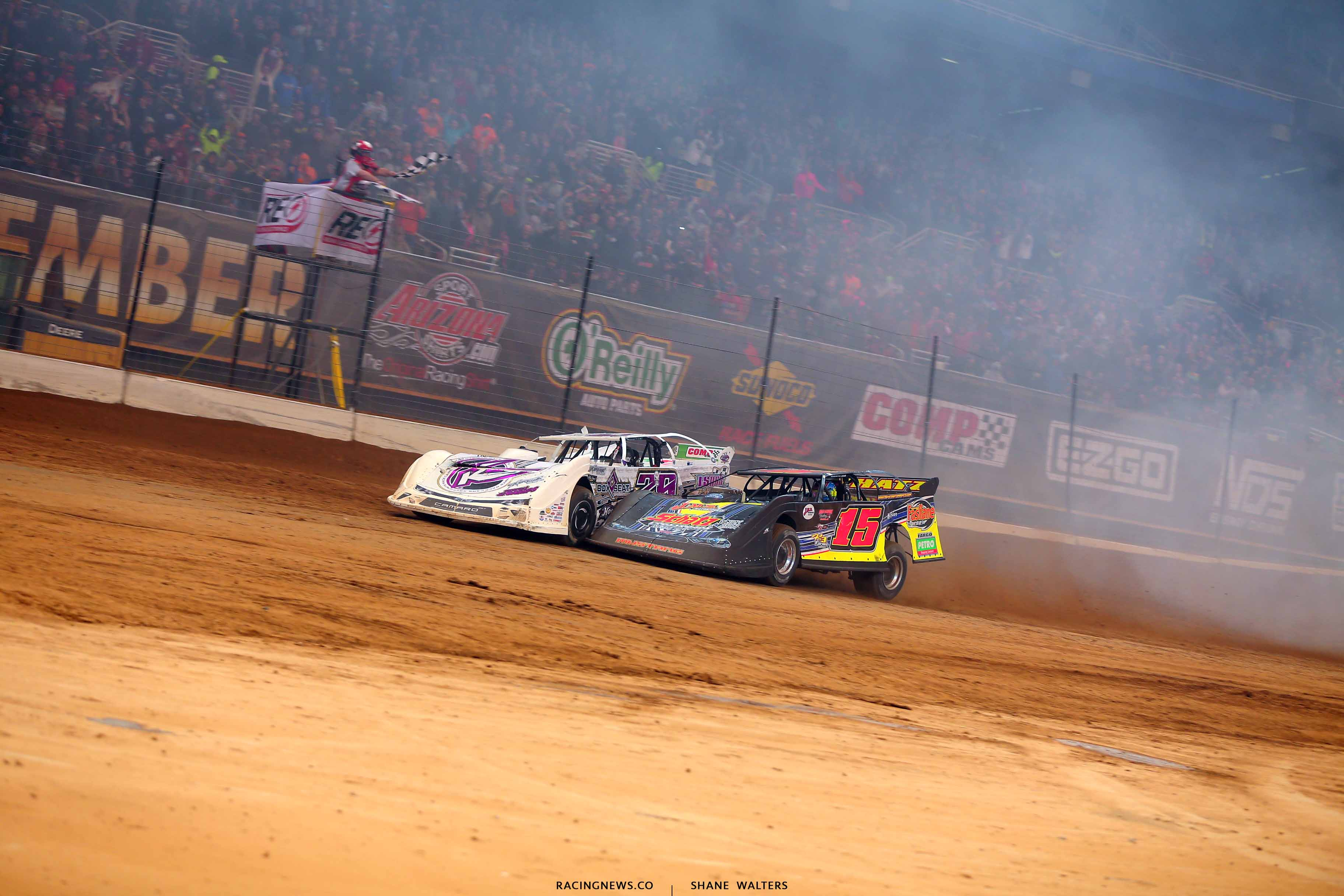 Tyler Carpenter and Brandon Sheppard at the line in the 2019 Gateway Dirt Nationals 2662
