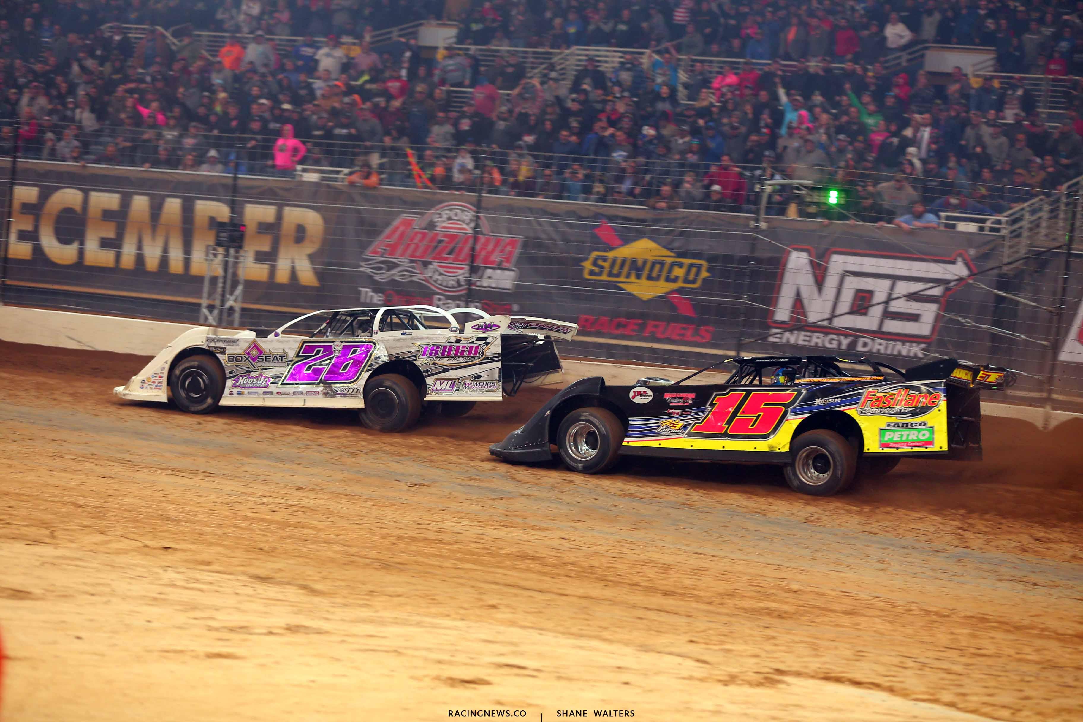 Tyler Carpenter and Brandon Sheppard in the Gateway Dirt Nationals 2657